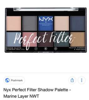 Nyx perfect filter palette in marine layer