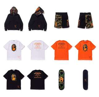 收bape x undefeated
