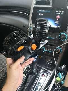 Double fan for car 汽车双风扇