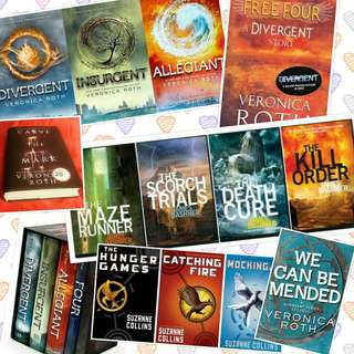 eBook bundle: Veronica Roth Divergent Trilogy Four Hunger Games Maze Runner