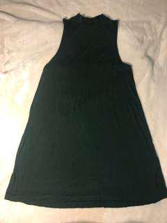 Topshop mock neck flowy dress