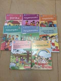 Buku Tematik Terpadu kelas 1 (8 buku)