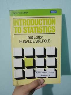 Introduction to Statistics, 3rd edition - Ronald Walpole