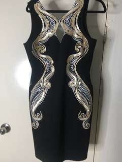 Sequinned bodycon dress