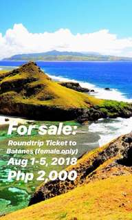 1 Roundtrip Ticket to Batanes