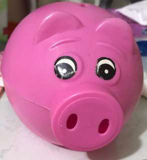 🚚 Cheapest cute pink pig coin bank