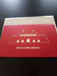 With Compliments Card