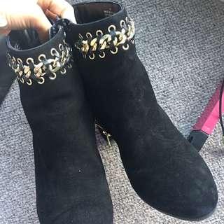 Kurt Geiger black suede boots
