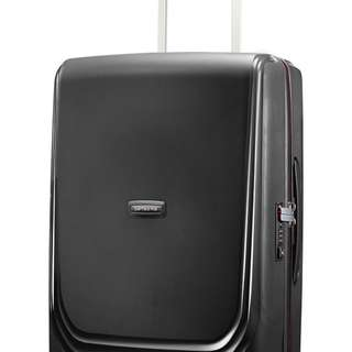 NWT Samsonite Optic Black Spinner Luggage Mid Sz 27 in