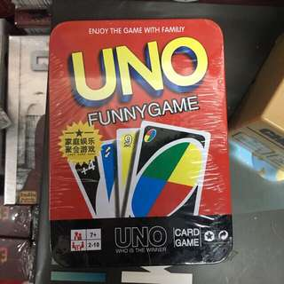 uno cards in tin can