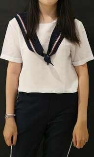 Short sleeve sailor blouse