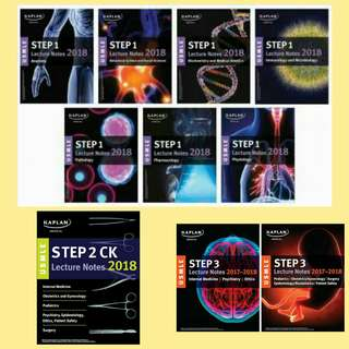 (SoftCopy) USMLE 2018 Step 1 Step 2 Step 3 Lecture Notes