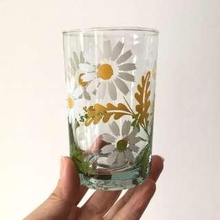 Vintage sunflower glasses - 6pcs