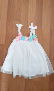 Gingersnap baby girl dress (12months)