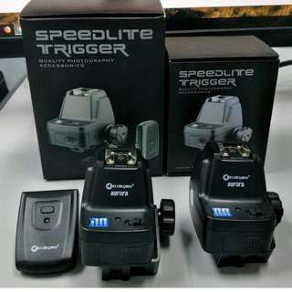 DUAL SPEEDLITE TRIGGER + RECEIVER - can use no 4 units flash + umbrella