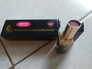 Purbasari lipstik color matte no. 82