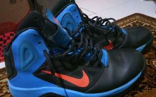 Nike Dual Fusion BB II Black Blue