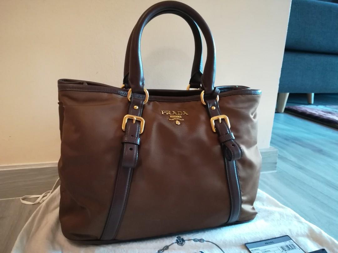 467dad88b2 100% Authentic Prada Handbag BN2832 Brown, Luxury, Bags & Wallets, Handbags  on Carousell