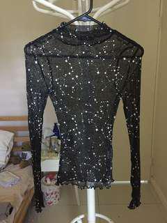 Princess Polly Mesh Star glittery Top 6 // Glue Store // City Beach // Glassons // Festival // Zara