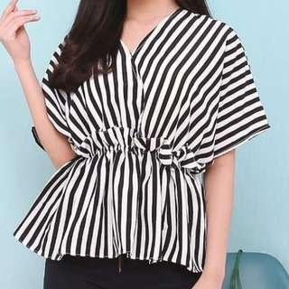 NEW Ruffle stripe blouse