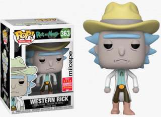 Funko Pop SDCC 2018 Rick and Morty Western