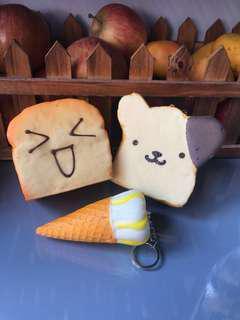 平到阿媽都唔認得squishy (麵包、食物)鎖匙扣舒壓玩具