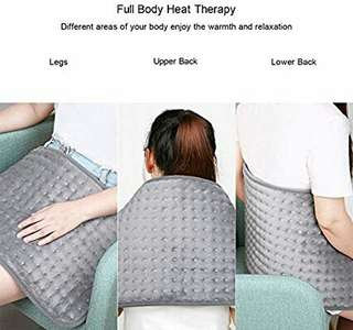 MARNUR Electric Heating Pad with Auto Shut Off and 6 Levels Temperature Settings for Back Neck Abdomen Legs Feet Warming Soft Plush Blanket Comfort and Cosy Muscle Pain and Stress Relieving -12*24in