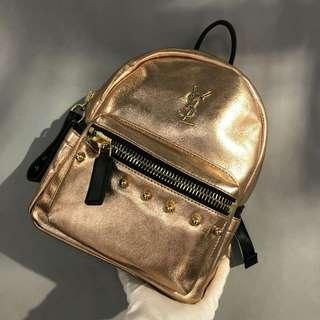 YSL Backpack Rose Gold Color