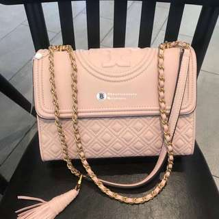 Tory Burch Fleming Convertible Shoulder Bag - soft pink
