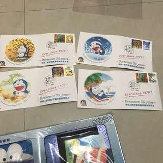 台灣購入多啦A夢35週年郵票