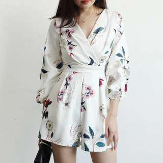 BN Long sleeve Floral Romper
