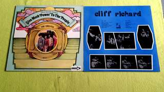 CHI - LITES . for god's sake give more power to the people ● CLIFF RICHARD. ( buy 1 get 1 free )  Vinyl record