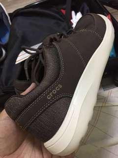CROCS Espresso and Stucco Kinsale Lace-Up Shoes Men (Brown) US 8
