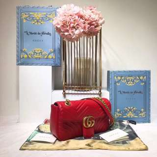 Gucci  古奇GG Marmont系列手袋,尺寸:26×15×7cm  AMD-056