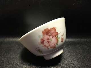 聽雨樓:#MYH-0015:【民國】民國印花花卉茶杯 #2