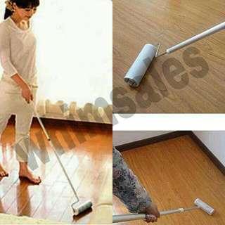 Broom? Sticky floor roller for hair crumbs fur