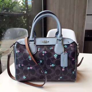 Coach Mini Bennett Satchel with ranch Floral Print