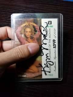 1995 playboy card 親筆簽名kym malin