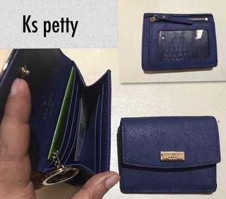 Kate Spade Petty Laurel Way Key Pouch / Wallet / Card Holder [Oceanic Blue]