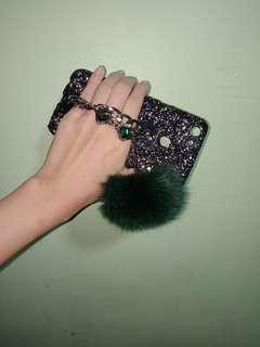 Glitter fur ball Case for oppo f5