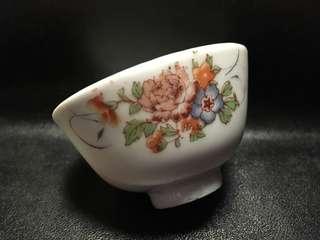 聽雨樓:#MTH-0013:【民國】民國貼花花卉茶杯 #1