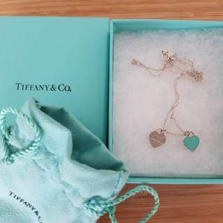Tiffany & co. Double hearts necklace