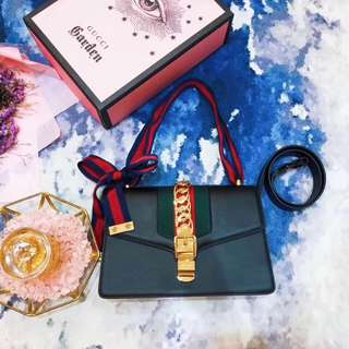 Gucci  古奇最火的Sylvie手袋  尺寸:25.5*17*8cm   AMD-059