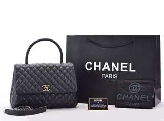 Chanel Coco Top Handle Caviar