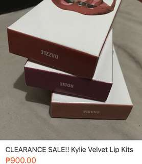 CLEARANCE SALE!! Kylie Velvet Lip Kit Bundle