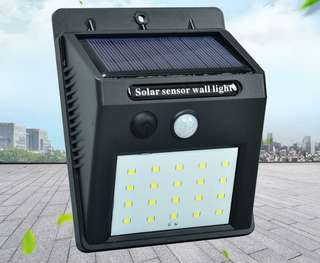 Solar energy induction wall lamp 20LED human body induction lamp outdoor courtyard lamp