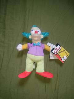 "The Simpsons Krusty the clown 9"" plush"