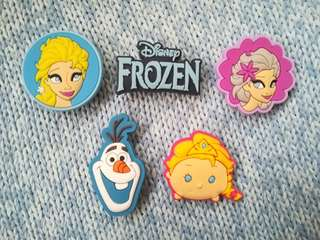 Jibbitz Inspired Crocs Charms: Frozen Elsa Olaf
