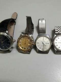 4隻零件手錶一起出售