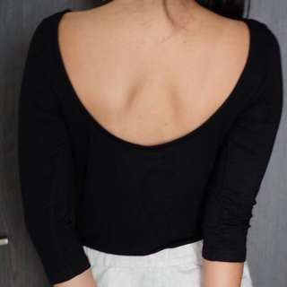 ZARA sexy back top atasan